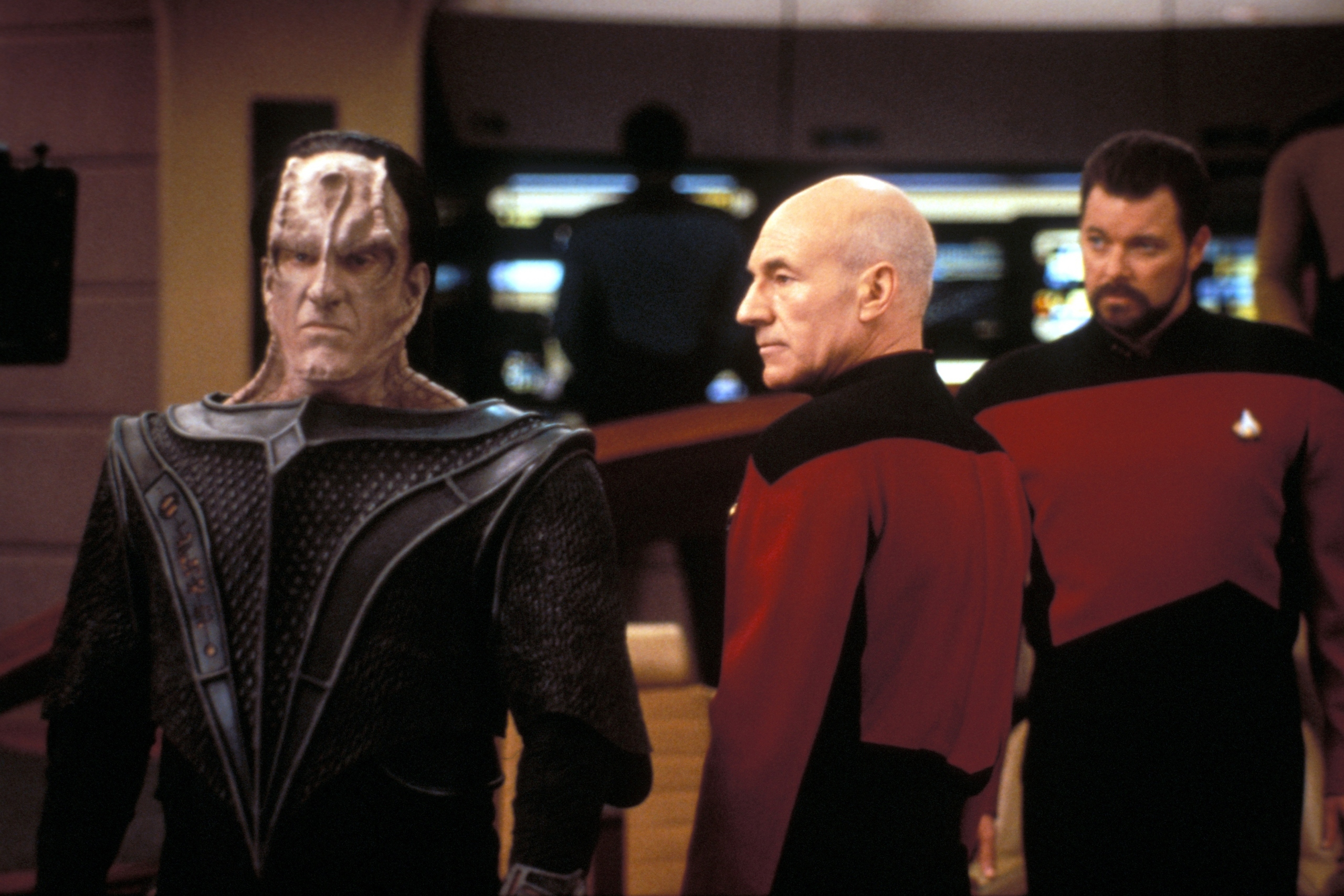 picard and maddox in star trek the next generation