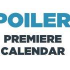 Calendrier des dates de sortie de The SpoilerTV 2020/21 * Mis à jour le 24 août 2020 *