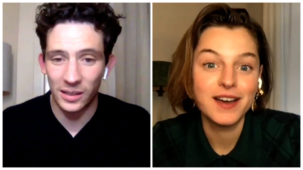«  La couronne  »: Josh O'Connor et Emma Corrin sur Being Charles & Diana (VIDEO)