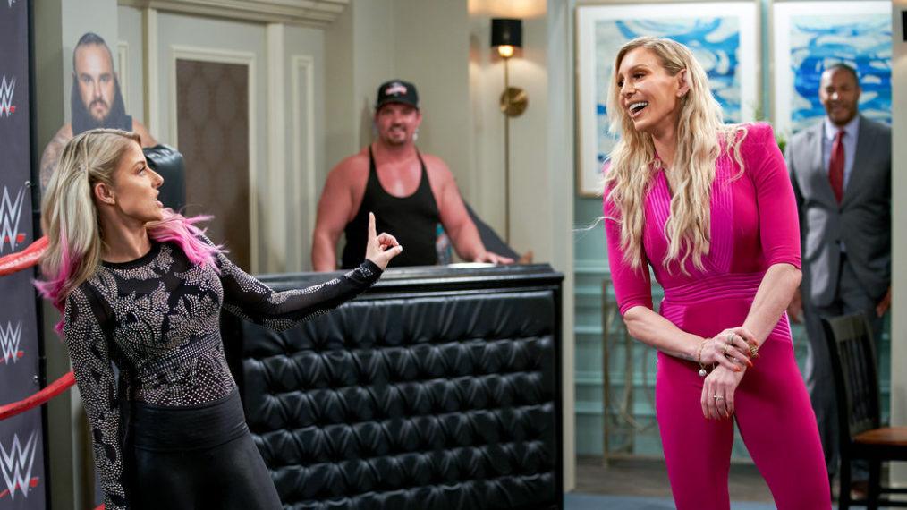 WWE Queen Charlotte Flair sur sa place d'invité « Punky Brewster »