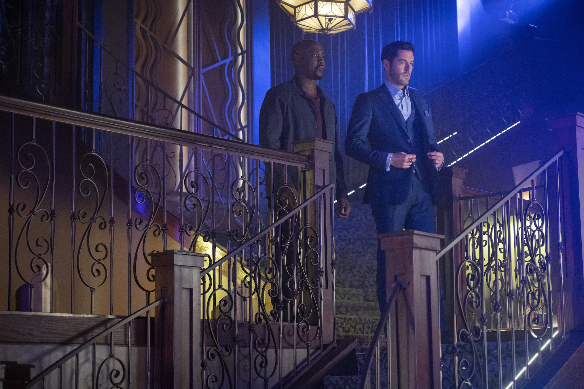 DB Woodside Tom Ellis Amenadiel Lucifer saison 5 épisode 11