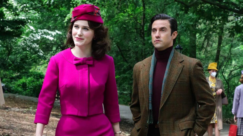 Voir Milo Ventimiglia sur le tournage de 'Merveilleuse Mme Maisel' avec Rachel Brosnahan (PHOTOS)