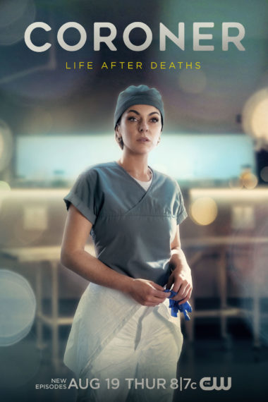 Affiche de la saison 3 du coroner Serinda Swan