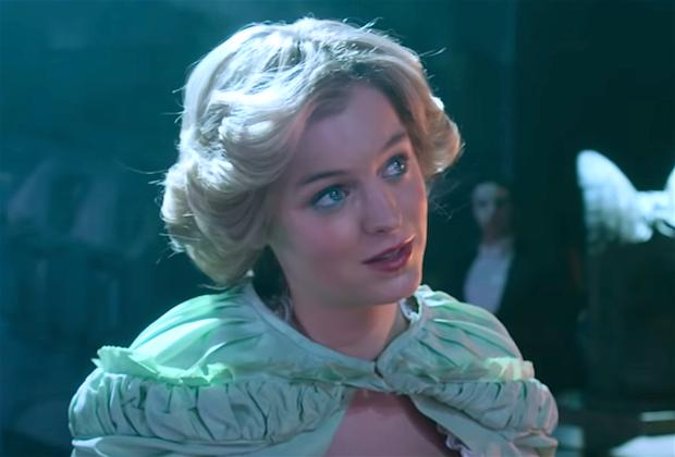La vidéo de la Couronne: Diana d'Emma Corrin chante une ballade du fantôme de l'opéra pour Charles dans la scène supprimée de la saison 4