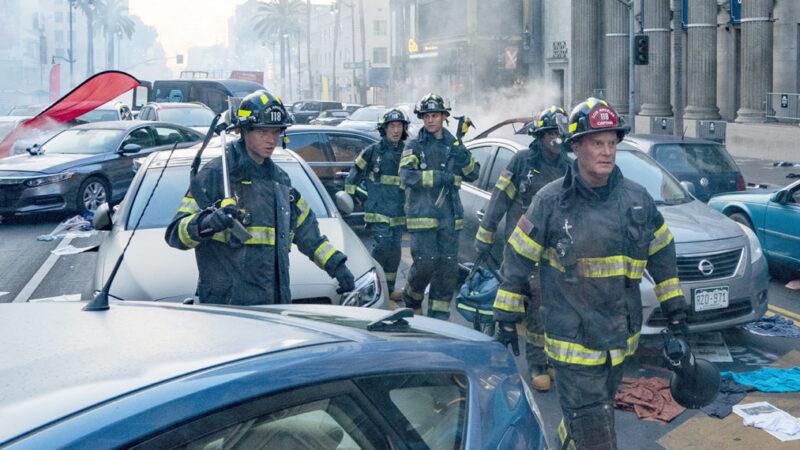 La première attaque du '9-1-1' est 'Jumanji' rencontre 'Jurassic Park' sur Hollywood Boulevard